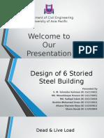 Design of 6 Storied Steel Building