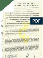 Acta de Otorgamiento de Buena Pro para los paraderos de Javier Prado