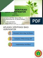 Verifikator-kebijakan-Aplikasi Bagi Verifikator