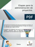 Etapas Para La Administración de Proyectos
