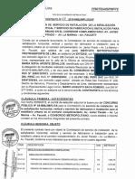 Contrato Paraderos Javier Prado, La Marina Faucett