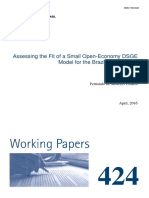 Wps424 Small Open Economy DSGE Model - Brazil