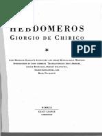 Giorgio de Chirico Hebdomeros Cropped (Dragged)