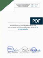 Guía de Productos Observables de Las Experiencias Curriculares Eje Del Modelo de Investigación (1)