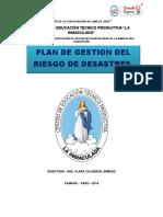 PLAN DE GESTIÓN DEL RIESGO DE DESASTRES CETPRO LA INMACULADA .docx