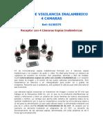Sistema de Vigilancia Inalambrico 4 Camaras