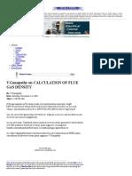 V. Ganapathy on Calculation of Flue Gas Density