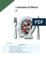 En Qué Consiste El Efecto Placebo