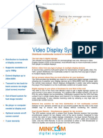 Sisteme Vds-Minicom's Video Display System (VDS)