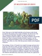 The Eight Beatitudes of Jesus