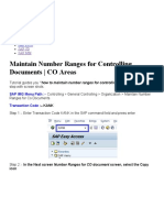 Maintain Number Ranges for Controlling Documents _ CO Areas – SAP Training Tutorials