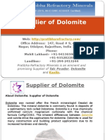 Supplier of Dolomite- Best_Price
