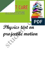 Projectile Motion q p Paper i