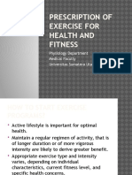 5. Prescription of Exercise for Health and Fitness (2)