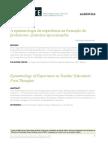 A epistemologia da experiência na formação de professores_ primeiras aproximações