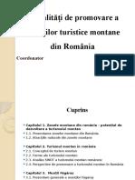 Modalități de promovare a unităților turistice montane din România