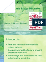 hemostasis in the Neonate