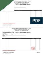 Liquidation for Fuel Expenses Form No