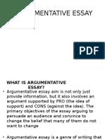 Argumentative Essay 22222222222