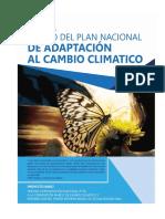 Plan Nacional de Adaptacion Al Cambio Climatico 2016