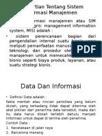 Pengertian Tentang Sistem Informasi Manajemen