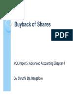 Buy Back of Securities
