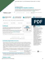 EAD 2 Curso de Metodologia Do Trabalho Científico I, Curso Online de Metodologia Do Trabalho Científico I, Com Certificado