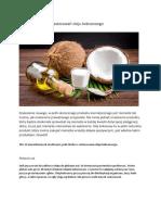 12 Niecodziennych Zastosowań Oleju Kokosowego