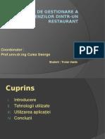 Aplicație de Gestionare a Comenzilor Dintr-un Restaurant