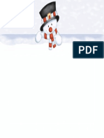 Snowman Christmas Invitation Sample