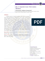 Prediction of Difficulty in Impacted Lower Third Molars Extraction Review Literature