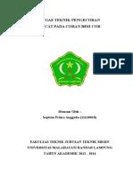 Tugas Teknik Pengecoran (Cover)