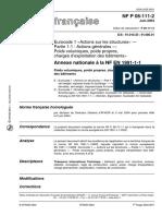 NF P06-111-2 - Eurocodes. Bases de calcul des structures. Partie 2   annexe nationale à l EN 1991-1-1 2002.pdf