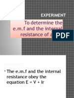 Experiment Emf and r