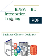 SAP BI_BW – BO Integration