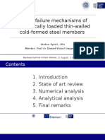 Plastic Failure Mechanisms of Eccentrically Loaded Thin-walled Cold-Formed Steel members