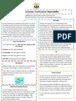 Curriculum Newsletter (Year 2 Summer 1)