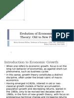 Evolution of Economic Growth Theory