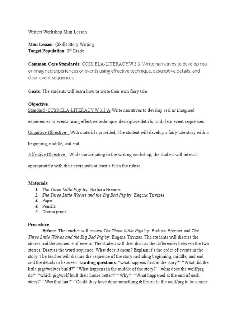 writers workshop mini lesson 2 | Narrative (23 views)