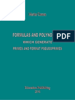 FORMULAS AND POLYNOMIALS WHICH GENERATE PRIMES AND FERMAT PSEUDOPRIMES