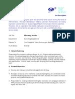 Job Desc Marketing Director 2015 07-20-15