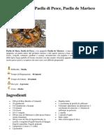Paella Di Mare, Paella Di Pesce, Paella de Marisco