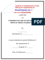 A Sample Project Report on Understand the Ecosystem in Digital Media Marketing