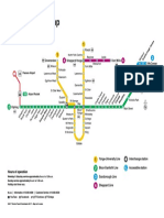 Subway Map of Toronto Ontario Canada