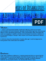 13 categories of disabilities