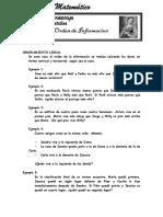 Ordenamiento Lineal CUARTO de PRIMARIA Abril