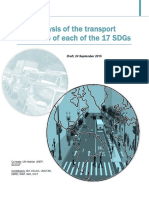 Analysis of Transport Relevance of SDGs