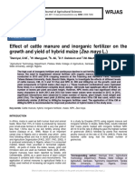 Effect of cattle manure and inorganic fertilizer on the growth and yield of hybrid maize (Zea mays L.)