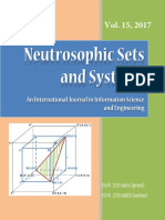 Neutrosophic Sets and Systems, vol. 15/ 2017. Journal