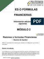 Razones o Formulas Financieras